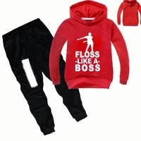 dlf 2 16y fashion baby boy clothes 2pcs set letter print top floss like a boss hoodies long pants suit toddler outfits tracksuit