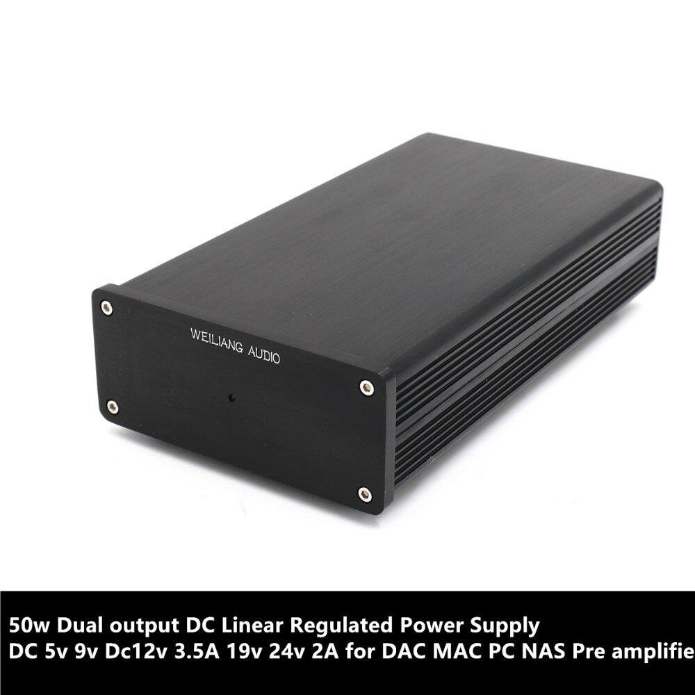 50w Dual Salida DC fuente de alimentación regulada lineal 5v DC 9v Dc12v 3.5A 19v 24v 2A para DAC MAC PC NAS tubo Pre amplificador