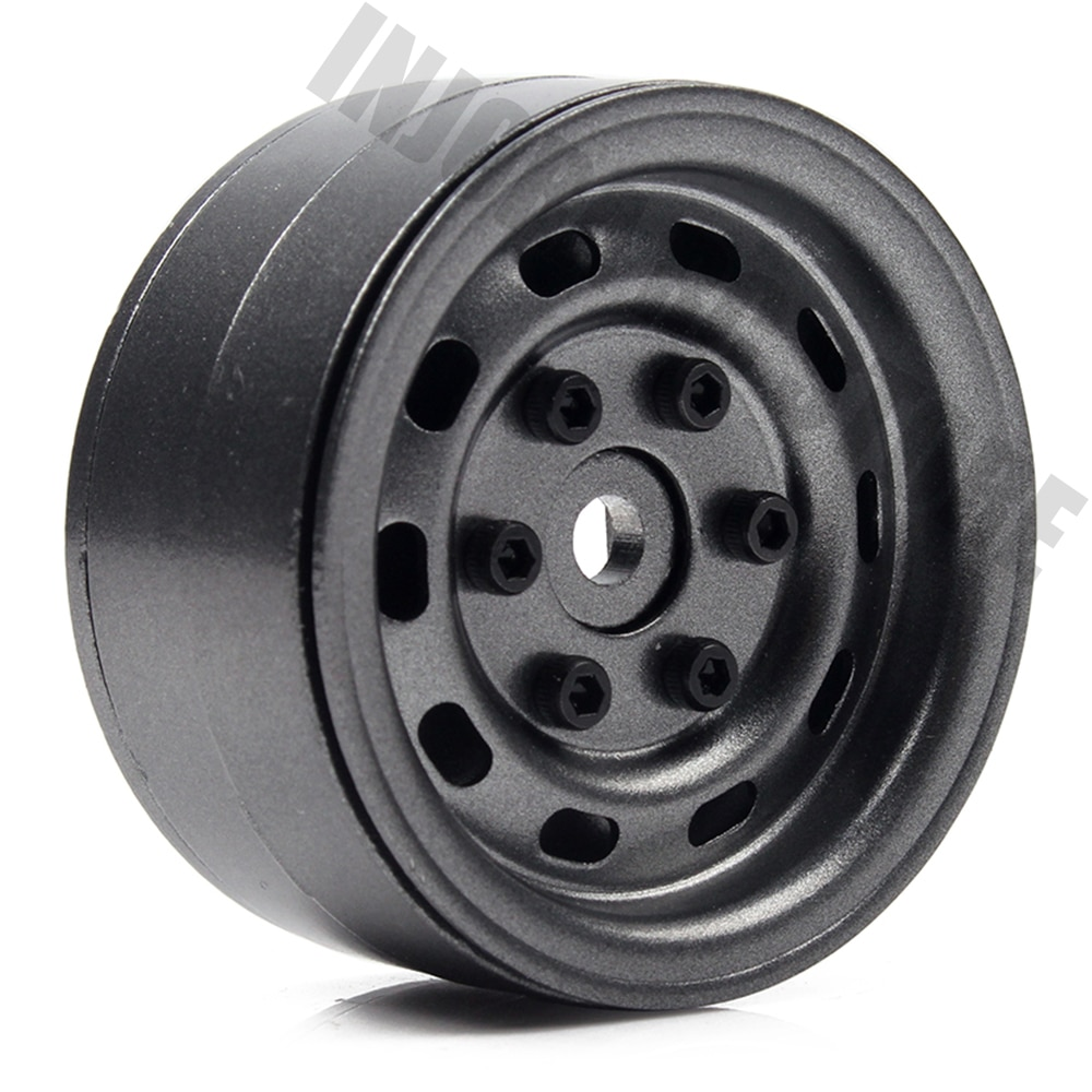 4PCS RC Metal 1.9Inch Beadlock Wheel Rims for Axial SCX10 Tamiya CC-01 D90 D110 TF2 Traxxas TRX-4