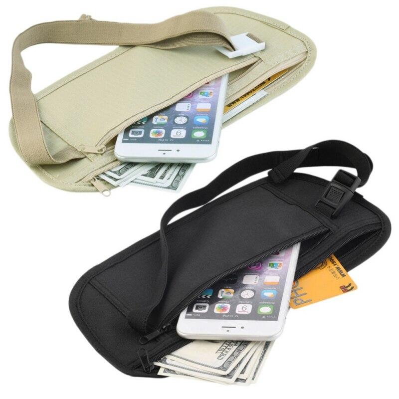Уличная невидимая сумка, с карманами, закрытыми от кражи, спортивная сумка, кошелек для телефона, дорожная сумка со скрытой молнией на талии