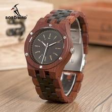 BOBO BIRD WN18 montres en bois Erkek Saatler haut de gamme bracelet en bois montre à Quartz pour hommes Logo Laser personnalisé livraison directe