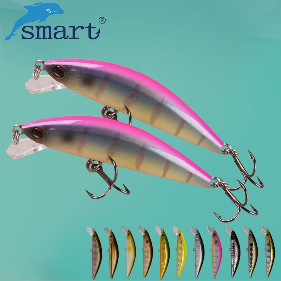 SMART Minnow Fishing Lure 55mm/4.6g Sinking Hard Baits VMC Hook Isca Artificial Para Pesca Leurre Souple Peche Wobblers