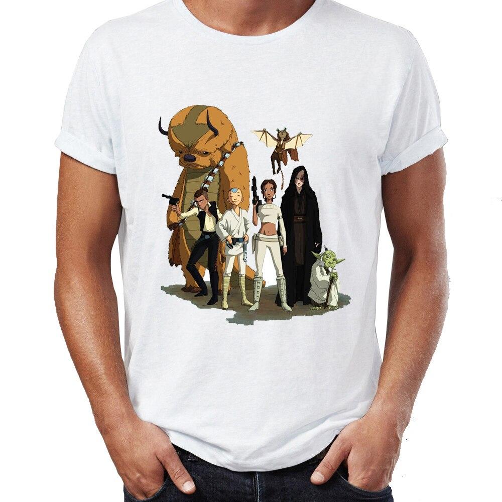 Camiseta Casual para hombre, camiseta Unisex, camisetas altas Harajuku, Aang y Appa Anime Badass