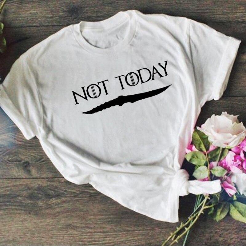 Fashionshow-JF Unisex no hoy Arya Stark Catspaw daga camiseta Juego de tronos Tee regalo