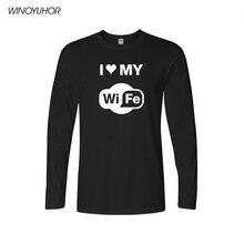 Aşk eşim komik mizah T Shirt erkek 2019 bahar rahat uzun kollu pamuklu T Shirt koca baba hediye Tees Tops