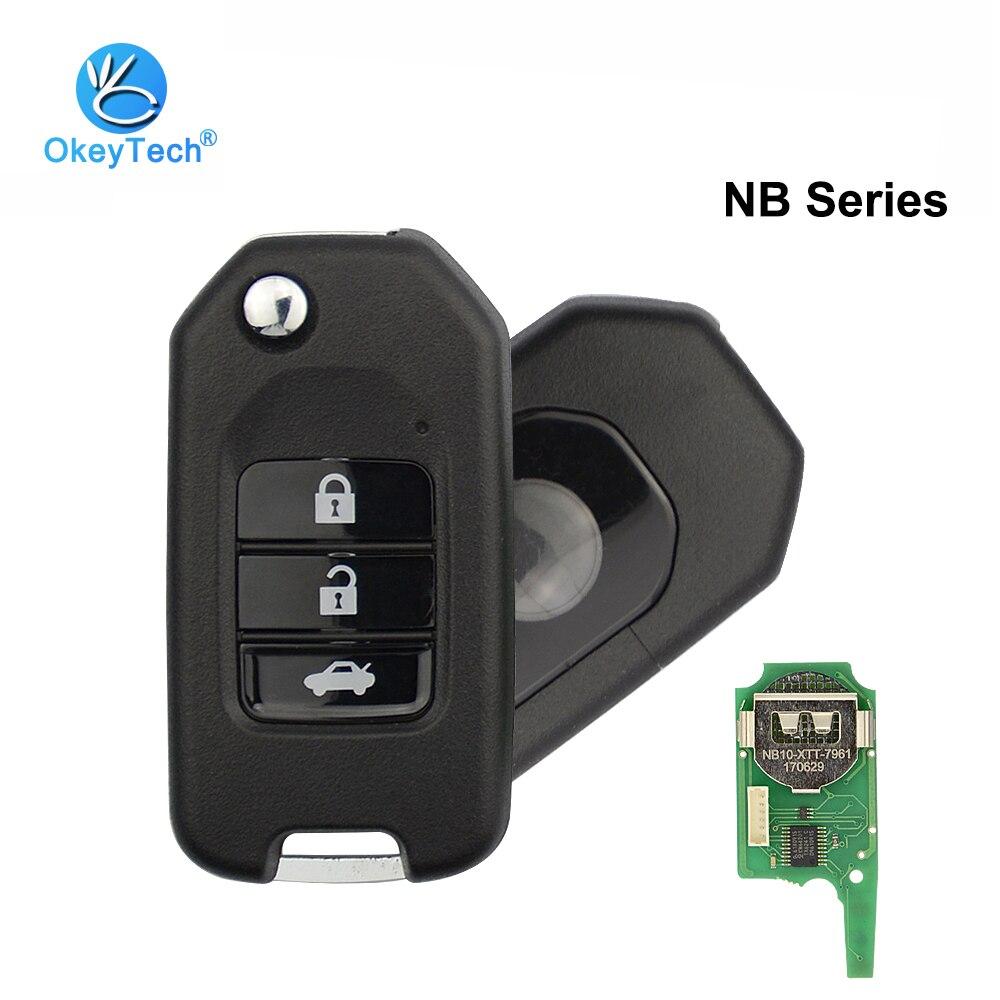 Мини-ключ OkeyTech NB10 KD для Honda, 3 кнопки для KD900/KD900 +/URG200, программатор NB серии, пульт дистанционного управления, Автомобильный ключ, 7961, XTT