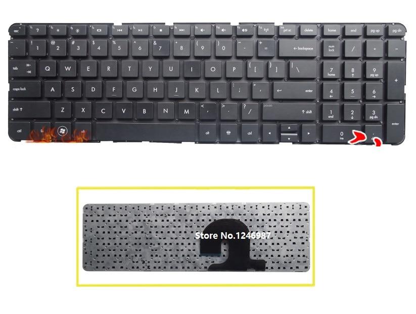 SSEA جديد محمول الولايات المتحدة لوحة مفاتيح إتش بي DV7-4000 DV7-4100 DV7-4030 DV7-4050 DV7-4269WM DV7-4200 DV7-4177NR DV7-5001XX دون إطار