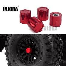 INJORA 4 Uds de aluminio RC llanta de rueda de coche CENTRO DE M4 tuerca para 1/10 RC Crawler Traxxas TRX4 Axial SCX10 90046 D90 Tamiya MST