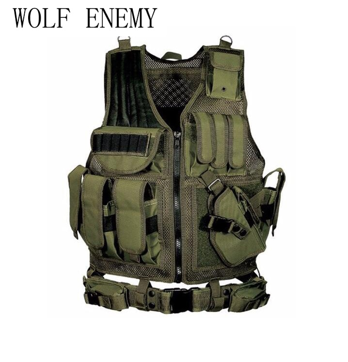 Chaleco táctico militar de policía, armadura de cuerpo para juego de guerra, chaleco de caza, productos para exteriores CS, equipo con 5 colores