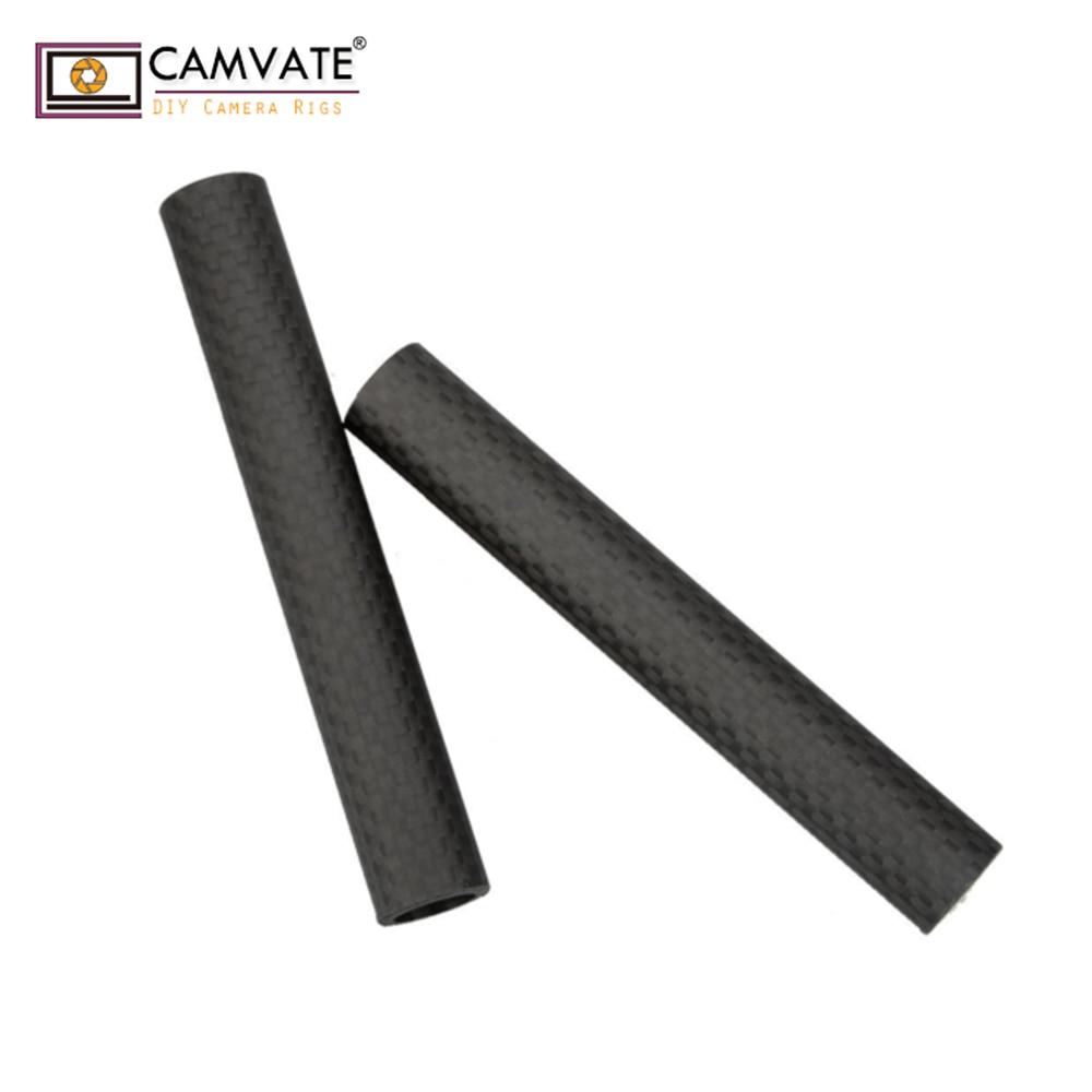 CAMVATE 15mm Carbon Fiber Rods 10cm Length for DSLR Shoulder Rig C0911 camera photography accessories