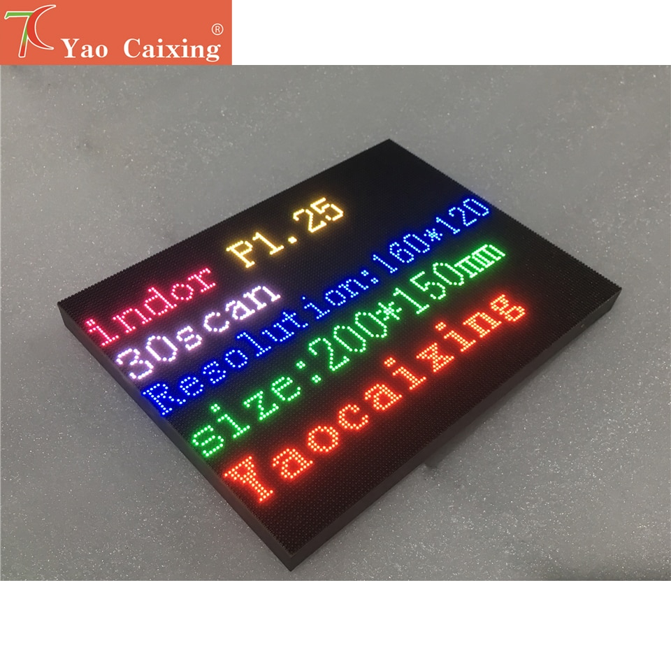 Yao Caixing P1.25 led display 4 karat 200x150mm led panel hub75 port modul
