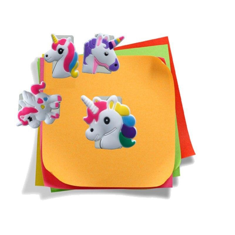 1 Uds. Clips de papel bonitos unicornios suministros de encuadernación marcadores para libros DIY Clips de carpeta para notas Memo regalo de papelería para niños