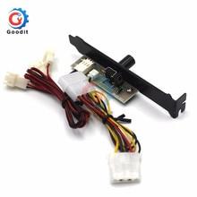 3 canaux PC refroidisseur ventilateur de refroidissement régulateur de vitesse pour boîtier CPU HDD VGA ventilateur avec support PCI puissance par 12V Molex IDE 4pin