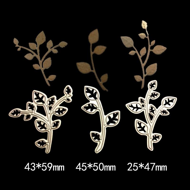 natural plant tree leaves new cutting dies photo album scrapbooking dies metal Stencil Craft cut paper card Embossing