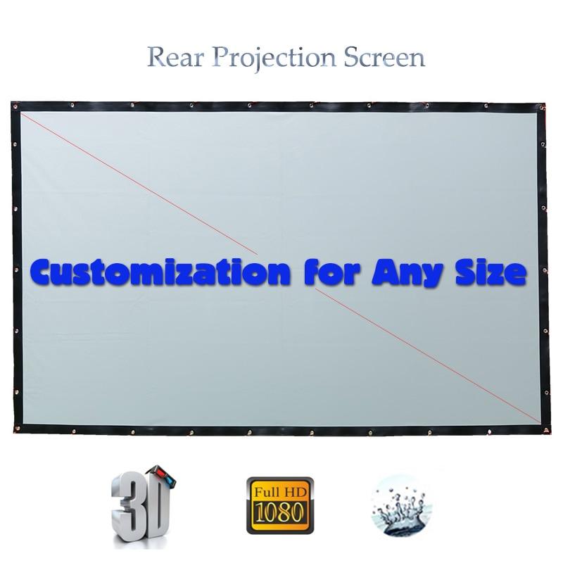 Pantalla trasera para Proyector Yovanxer HD, pantallas de proyección plegables, Pantalla de tela PVC, Proyector personalizado para cualquier tamaño
