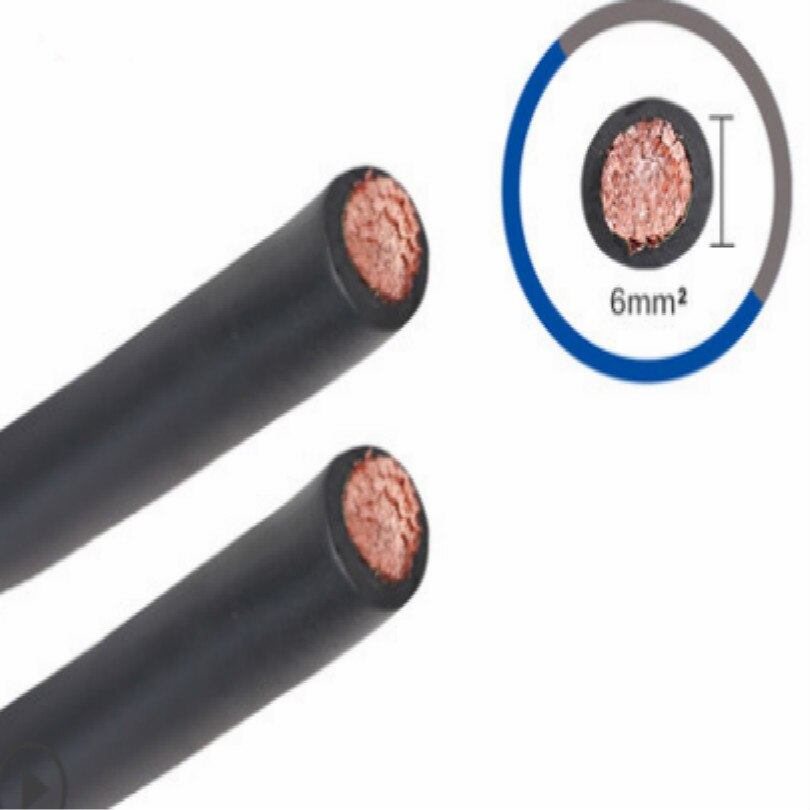 free shipping 300a electrode holder 3m with 10 25 cable connector Cross section 6 Square millimeter welding clamp cable earth welding cable grounding cable 3M/LOT FREE SHIPPING