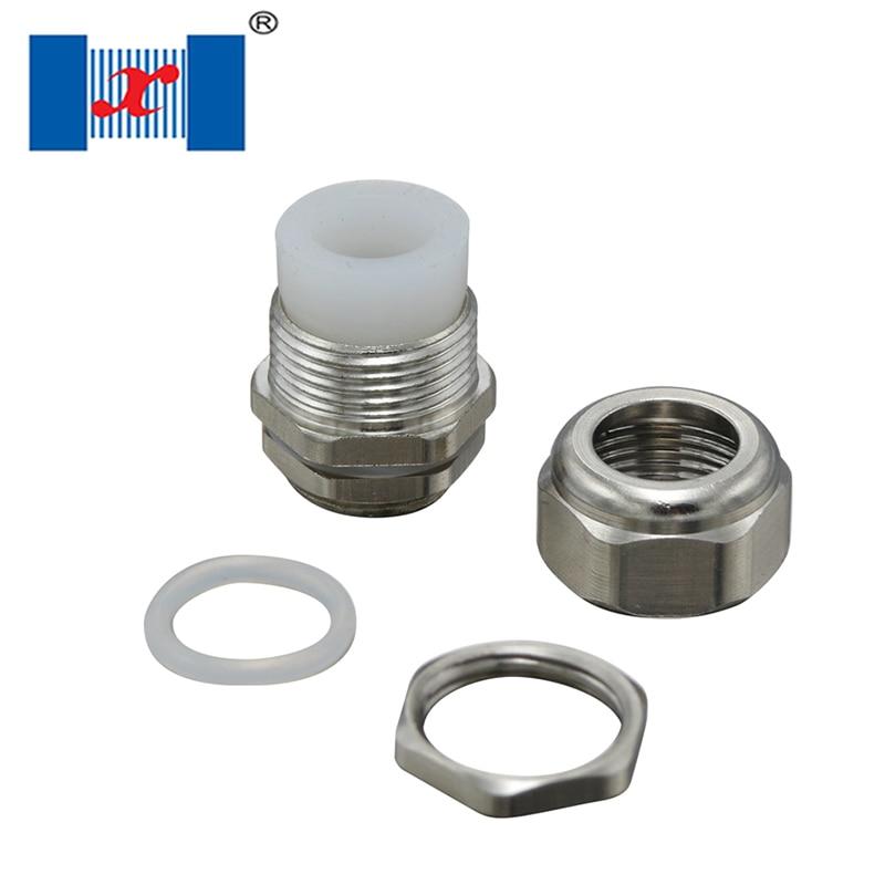 Glándula de cable impermeable de Metal Tipo de inserción de goma de silicona M12 25 uds para Cables de 3-7mm