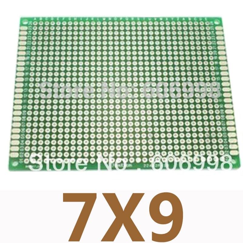 5 unids/lote 7*9cm doble lado PCB prototipo Universal de circuito impreso placa DIY placa experimental BD027
