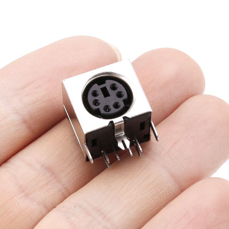10 Pcs Mini 6-Pin Din Socket Connectors PS-2 Vrouwelijke Plug Pcb Solder Connector Pc Muis