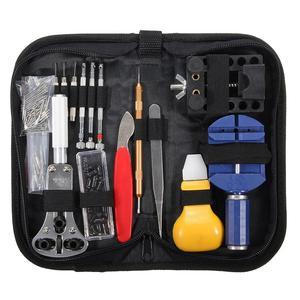 Hot Sale 146 Pcs Pro Watch Repair Tool Set Case Opener Link Pin Remover Tweezers Kit