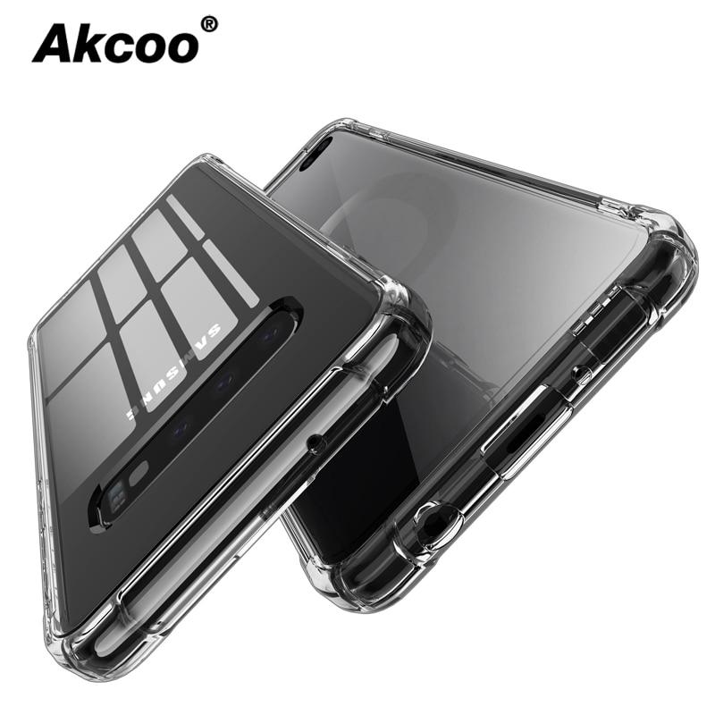 Akcoo Note 10 S10 Plus fundas de amortiguación de choque suave TPU cubierta funda para Samsung Galaxy S8 9 Plus S10e note 10 Pro fundas