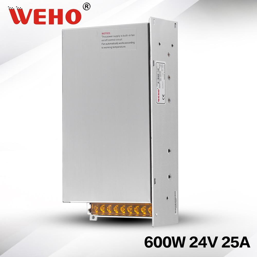 (S-600-24) Fuente de alimentación Industrial de poco ruido 24V 600W AC 24V DC 25A 600w fuente de alimentación led