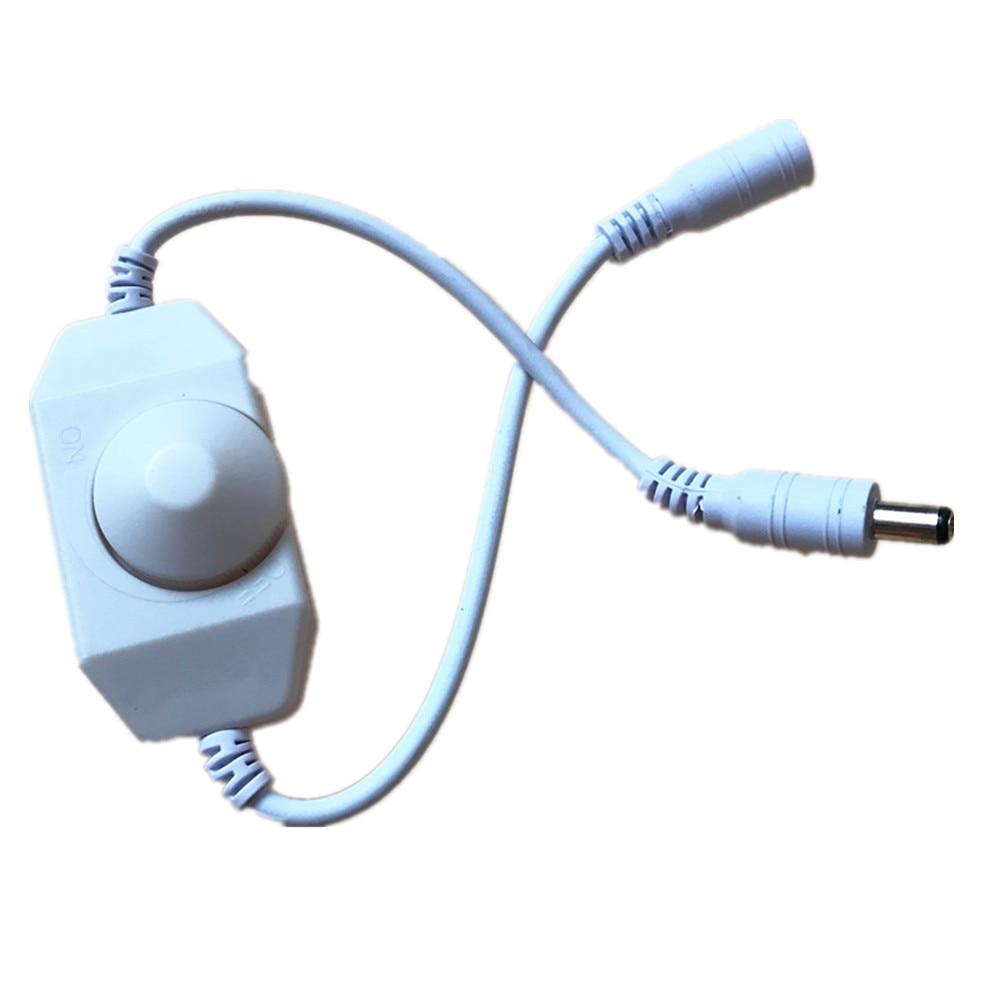 AliExpress - LED Dimmer Switch Brightness Adjust Controller for 3528 5050 5730 5630 Single Color Strip Light DC 12V 24V Black/White