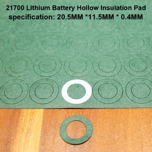 100pcs/lot 21700 Lithium Battery Positive Insulation Gasket Hollow Flat Head Pad Insulation Meson He