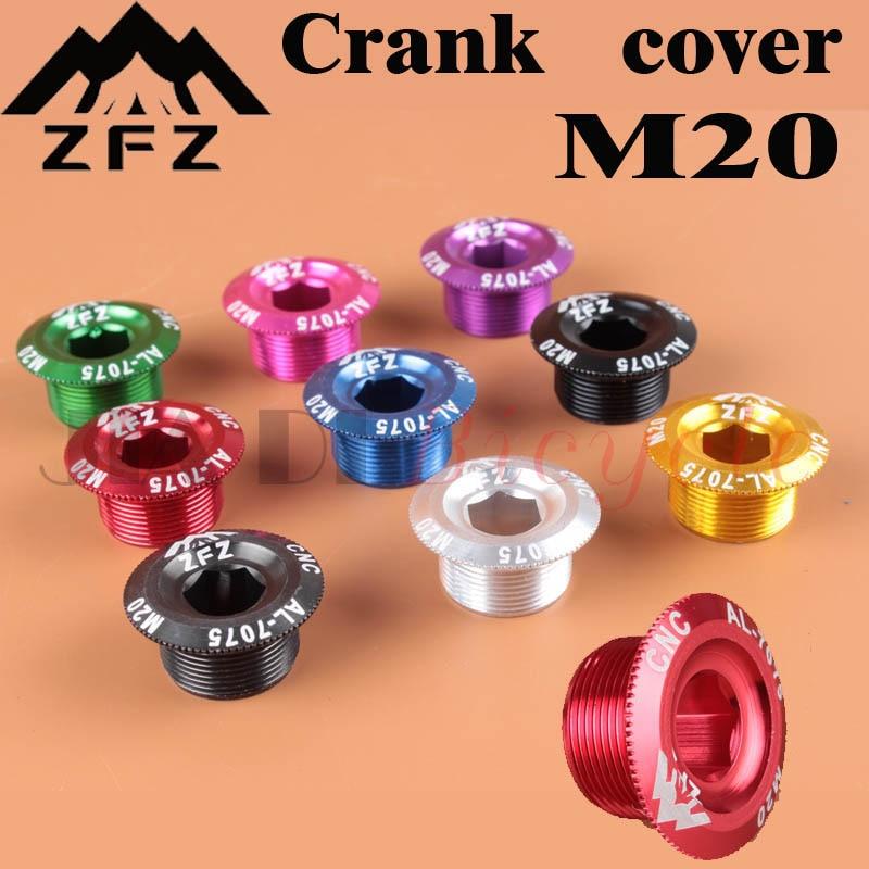 Crank Cover Schroef Cap M20 Mtb Crankstel Crank Cover Aluminium Bmx Racefiets Fitting 10 Kleuren