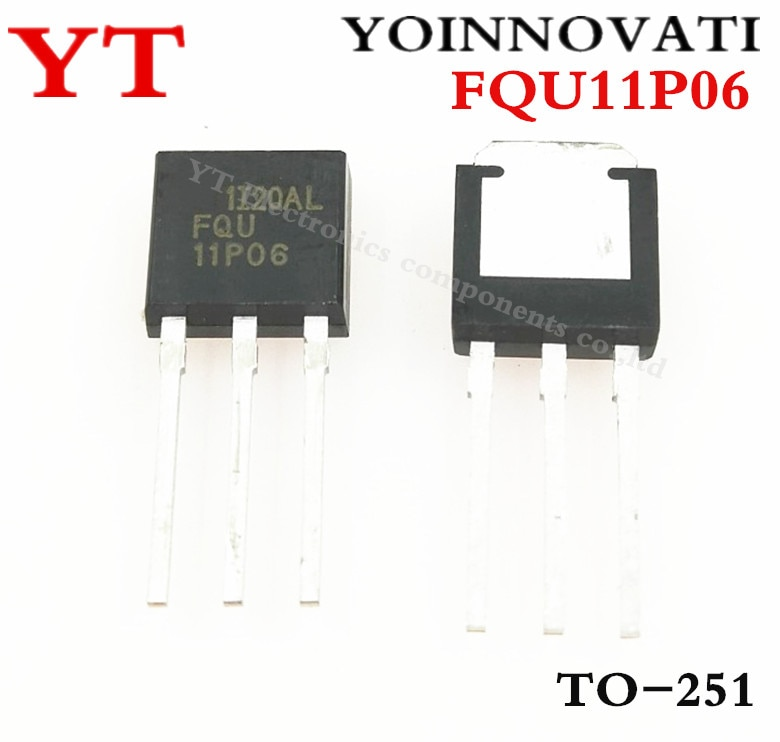 10 unidades/lote FQU11P06 11P06 TO-251, MOSTFET, la mejor calidad