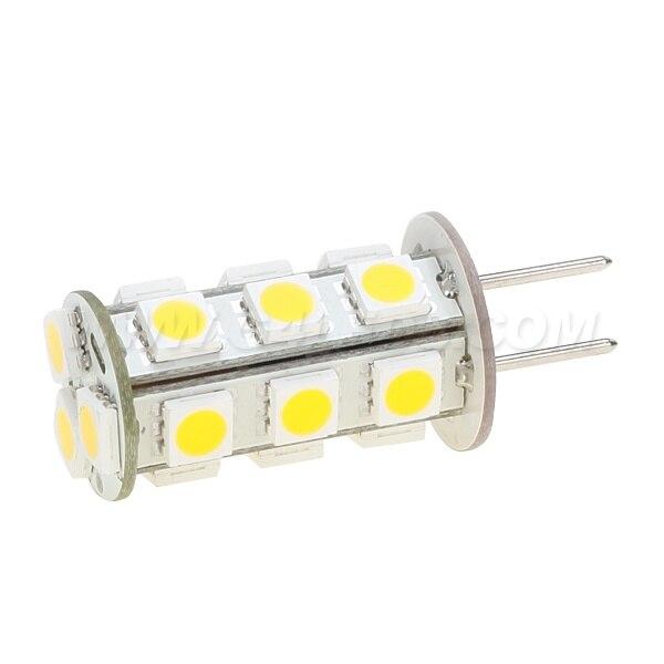 Free Shipment G6.35 Led Bulb Lamp 12VDC 18LED SMD 5050 360-396LM 3W Repalce The 30W Halogen Bulb 20pcs/lot