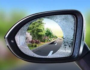 2pcs Rainproof Car Rearview Mirror Film Sticker Anti-fog Protective Film for saab key 9-3 9-5 emblem 93 evening dress 95 900 900
