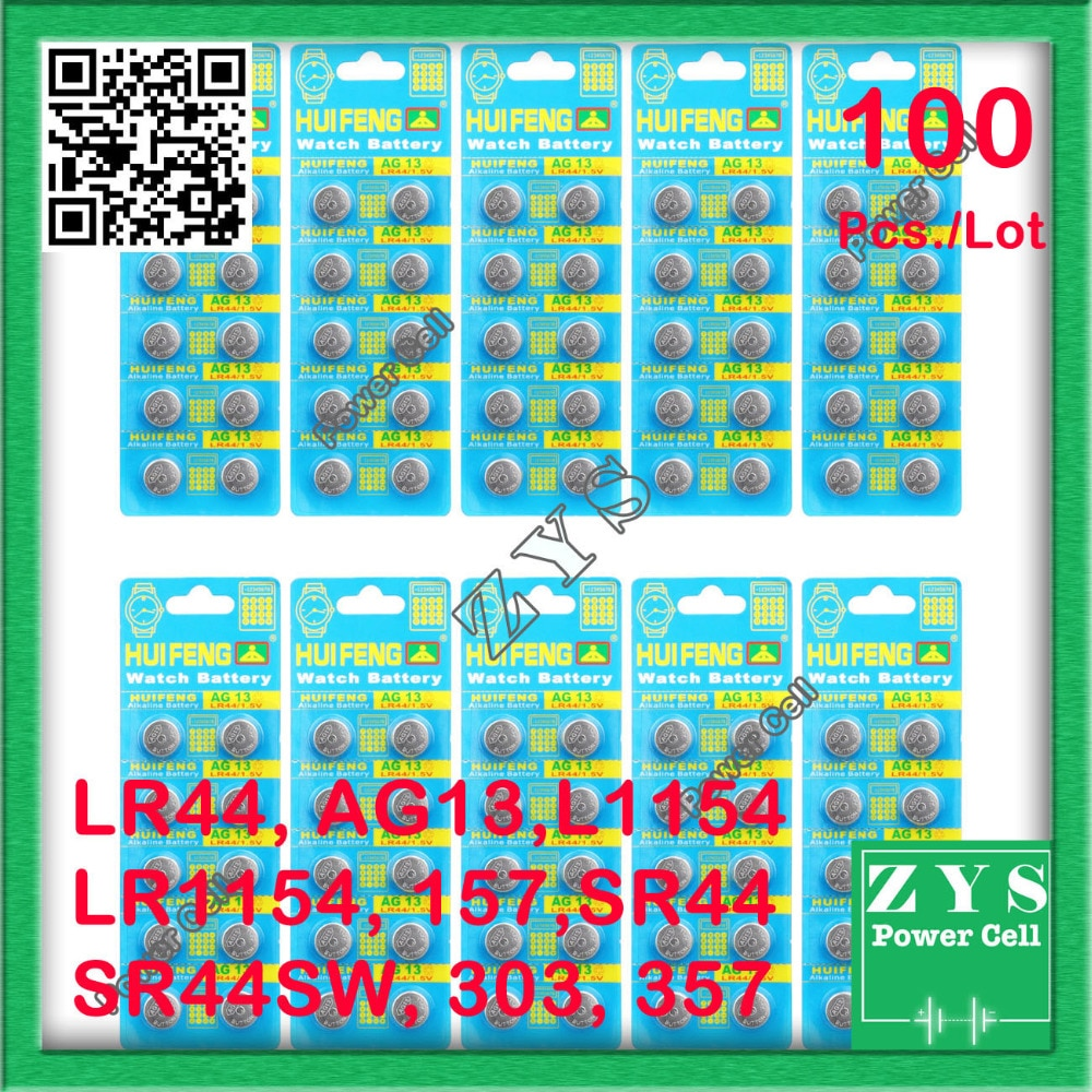 100pcs/Lot button cell 1.5v 120mah SafetyPacking,Free Shipping  SP76 RW82 RW42 357A LR44 AG13 L1154 157 SR44 SR44SW 303 357 LR$$