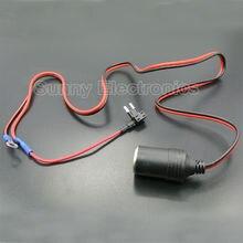 Allume-cigare et cigare 1M 1.5mm2   Pour voiture, Extension DC12V, Mini fusible, porte-robinet plomb