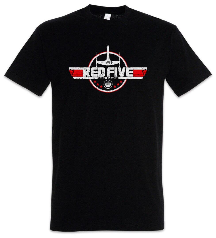 Rojo cinco camiseta de Alianza estrella-Luke Skywalker Wars X-Logo de ala T...