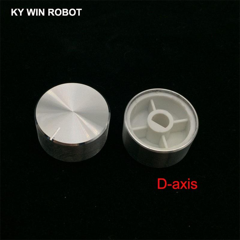 AliExpress - 1 pcs 25x13mm 6mm Shaft Hole Aluminum Alloy Potentiometer Knob White (D-axis)