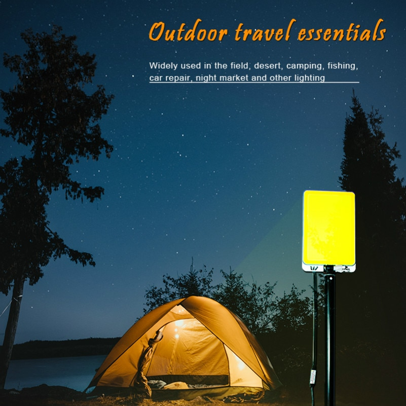 Exterior Camping 12V luz recargable portátil spotlight tienda de campaña luz telescópica imán de barra cubierta de cabina de madera contrachapada lampada