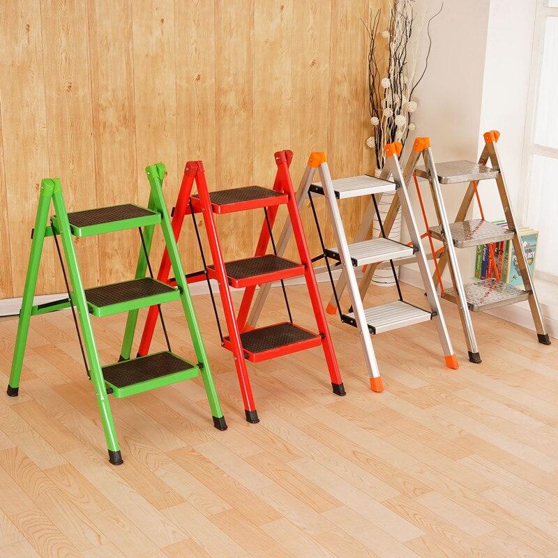 كرسي قابل للتحويل متعدد الوظائف من درجتين أو ثلاث خطوات ، أثاث مكتبة ، كرسي خشبي قابل للطي ، سلم سلم للمنزل