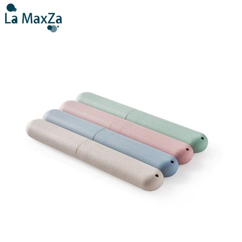 Funda de cepillo de dientes portátil recipiente de paja de trigo caja de cepillo de dientes respetuosa con el medio ambiente y reutilizable viaje Accesorios