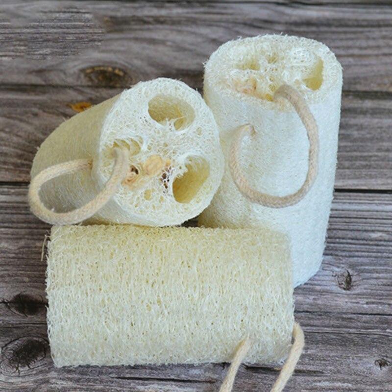 Esponja de ducha corporal para baño de cocina, accesorios de baño de alta calidad, 1 Loofah 2019, nuevas mercancías domésticas almohadilla de fregar Natural