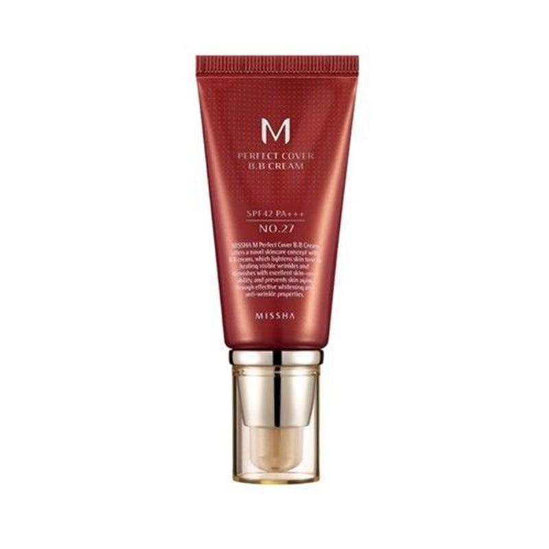 MISSHA M cubierta perfecta BB Crema SPF 42 PA + + + No. 27 (Beige miel) corrector Fundación maquillaje Original Corea cosméticos