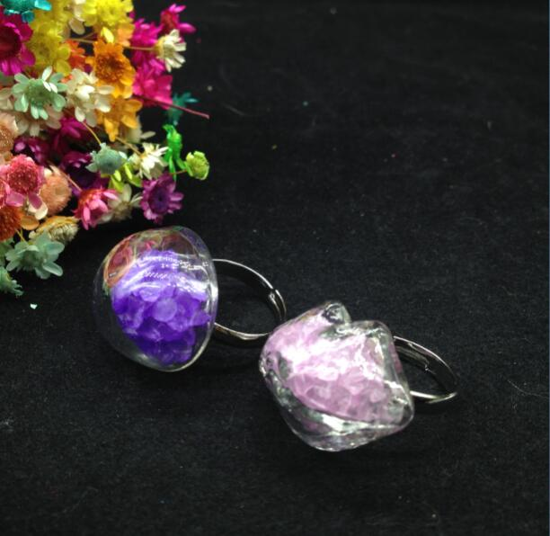 10 set/lote anillo ajustable Chapado en plata vacío hecho a mano botella de vidrio vial anillos de globo kit de fabricación de joyería encanto anillos de fiesta