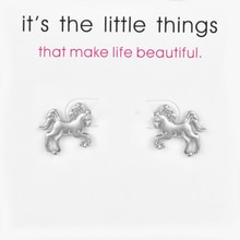 Fashion Jewelry Life Is Magical Horse Stud Earrings For Women Brincos