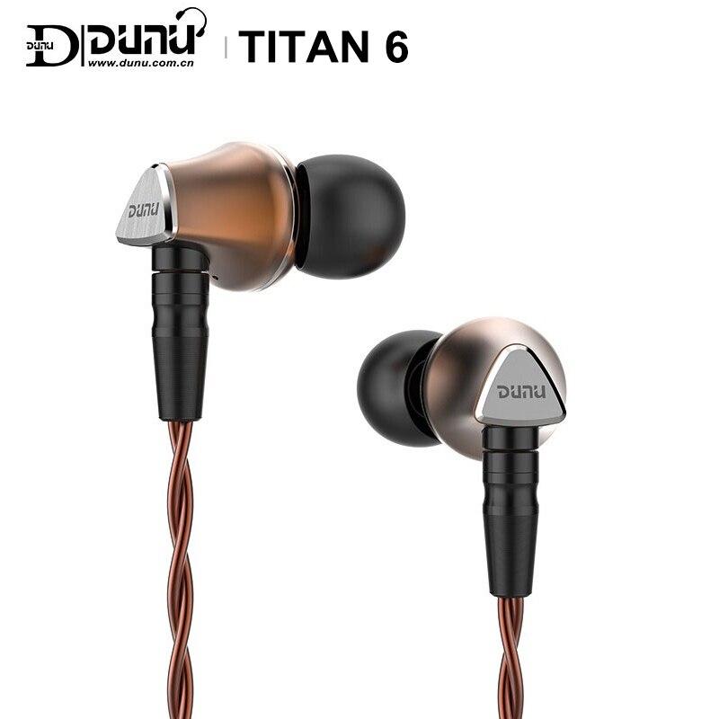 DUNU TITAN 6 T6 Hi-Res 12,6mm diafragma de berilio controlador dinámico de Audio de alta fidelidad auriculares IEM captura-hold mmcx connctor Titan6