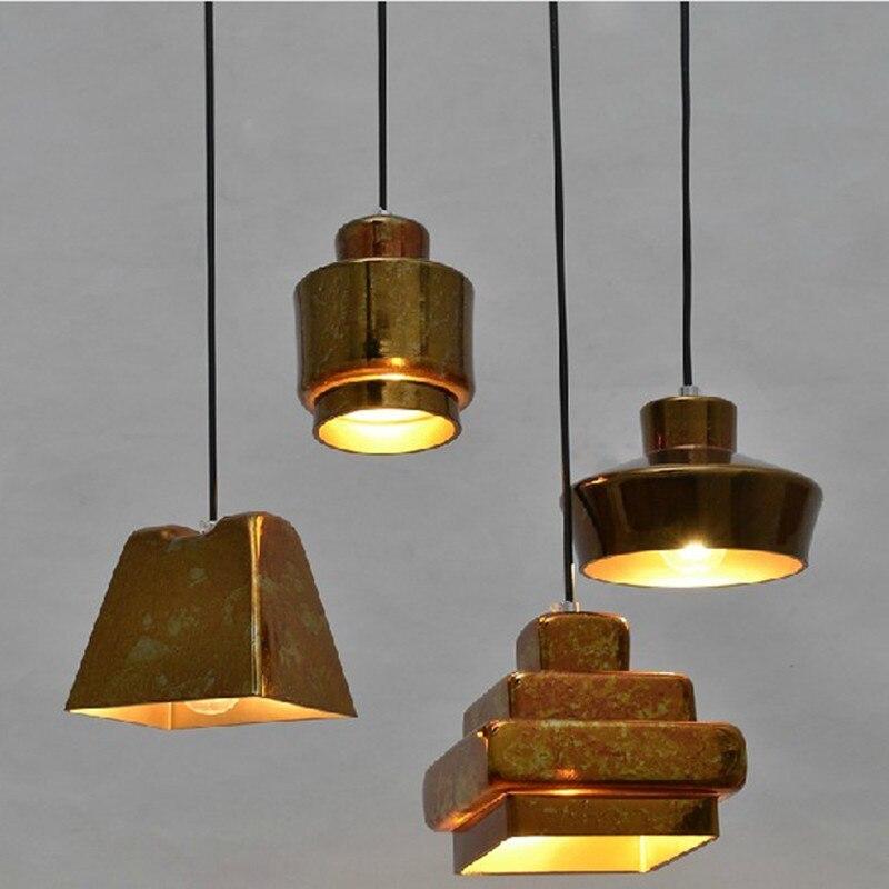 Luces colgantes de vidrio nórdico para comedor, lámpara de Metal, lámpara de cristal, decoración de Bar, luz de sala de estar envío gratis