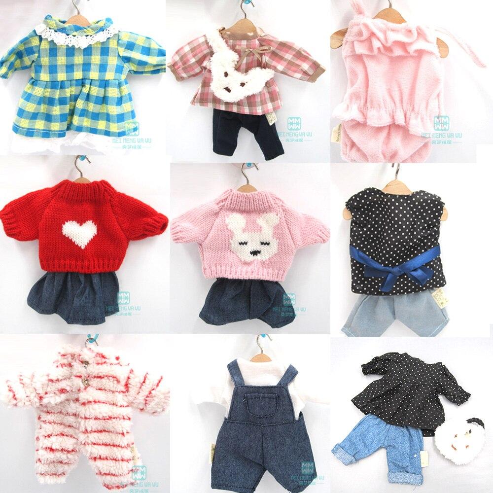30cm roupas para boneca caber 1/6 bjd blyth azone boneca coelho gato urso brinquedos de pelúcia vestido macio saia camisola boneca acessórios
