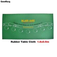 180*90cm caoutchouc noir Jack 21Points Baccarat Casino Poker nappe vert tapis de Table conseil tissu de haute qualité