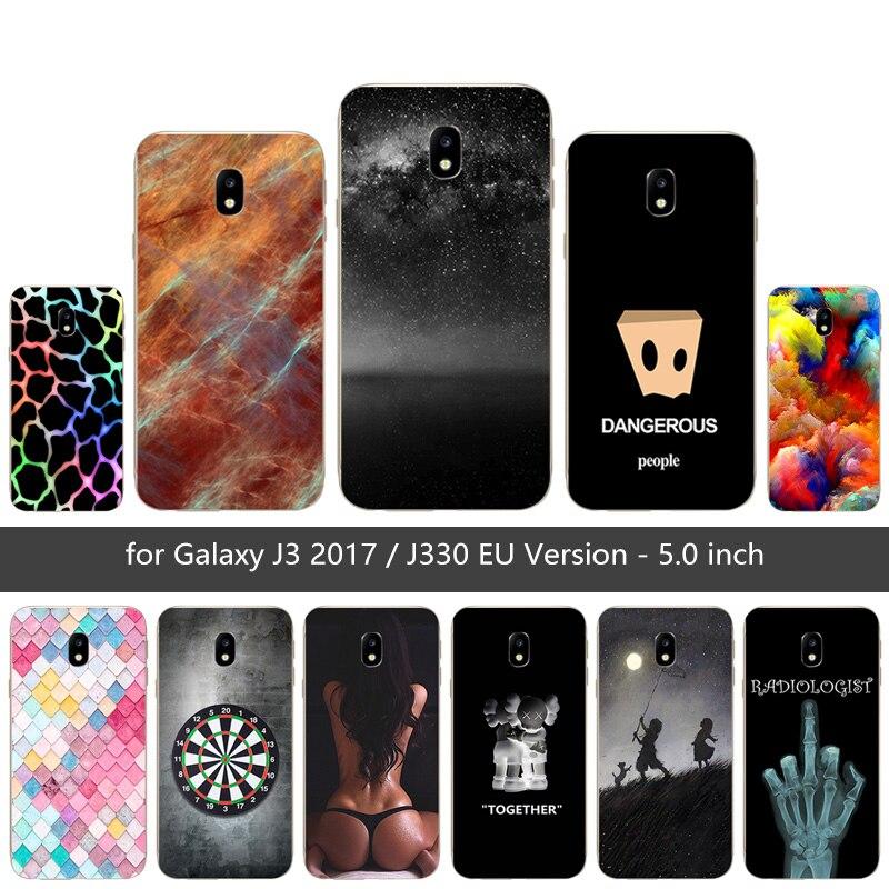 "Para Samsung J3 2017 J3 (7) funda de teléfono de silicona suave Color malla impresa cubierta para Galaxy J3 2017 J330F SM-J330F DS 5,0 ""funda"