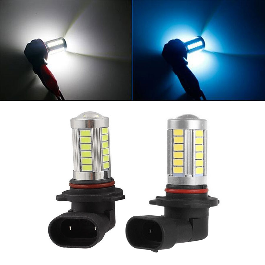 2Pcs High Power 9005 9006 HB3 HB4 LED Car Fog Lights 5730 5630 33 SMD Auto LED Driving Bulbs DRL White Ice Blue