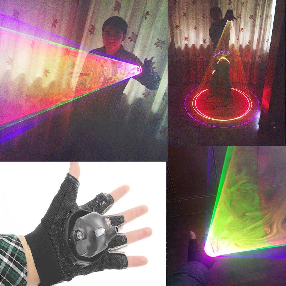 RGB láser Whirlwind multicolor Vortex láser hombre etapa suministros Láser LED guantes para actuaciones en club nocturno